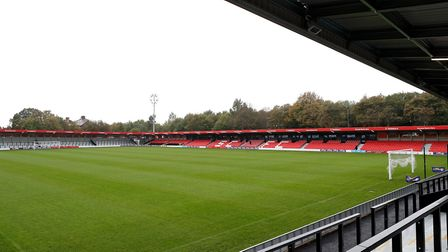 General view of the pitch at Salford City's new stadium (pic: Martin Rickett/PA Images).