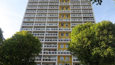 Detective looking for witnesses... 100 flats look out onto forecourt of 20-storey Gayton House where