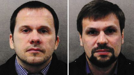 Suspects Alexander Petrov (left) and Ruslan Boshirov. Picture: Metropolitan Police/PA Wire
