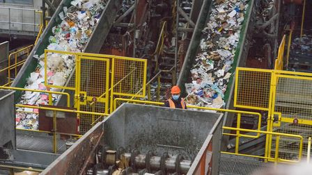 Bywater's waste recycling plant at Bromley-by-Bow which Mayor of Tower Hamlets John Biggs visited in