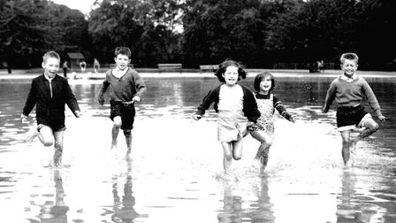 Times past... Vicky Park has always been a favourite for East Enders... like these kids in the 1950s