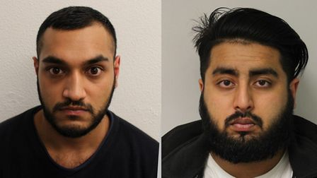Mizad Miah, left, and Belal Ahmed have been jailed for a total of 24 years. Pic: Met Police