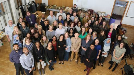 The team of 70 who'll be working for the Tower Hamlets Talking Therapies service. Picture: ELFT