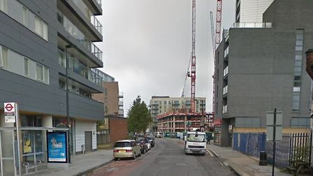 The victim was found in Chrisp Street. Pic: Google