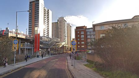 Blackwall Way in Poplar, where some of the attacks occured. Picture: Google