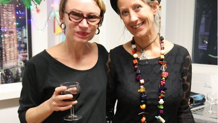 Artist-designer Angela Groundwater with Men's Cabin comminity centre manager Jayne Clavering at the