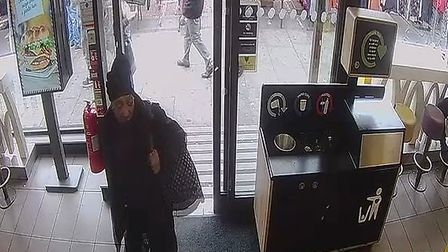 Detectives investigating a racist attack on an Asian teenager have released images of a woman they w