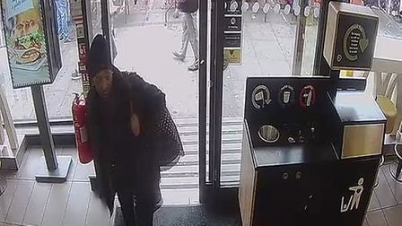 The 18-year-old and two friends were in McDonald's in Bethnal Green Road when a woman started hurlin