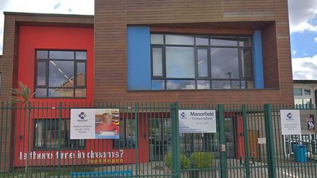 Manorfield Primary School in Poplar, where staff who work during lunchtimes and breakfast clubs are