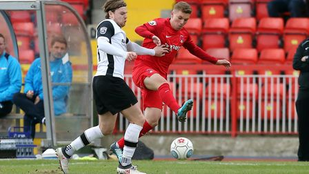 Youth-teamer Charles Clayden in action for Leyton Orient at Gateshead in the National League last se
