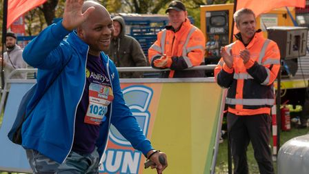 Courageous bone marrow cancer patient Albie Ollivierre completing gruelling four-mile walk in Victor