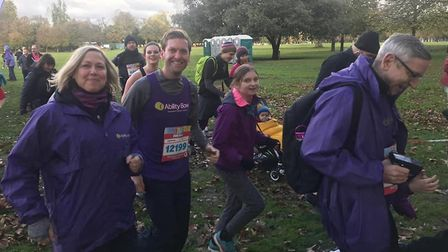 Sunday volunteer runners in Victoria Park raising funds for Ability Bow therapy gym. Picture: Tony S