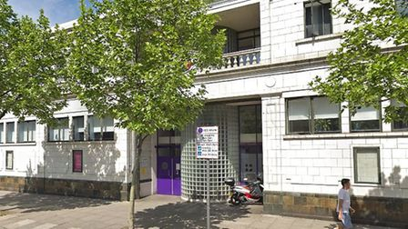 Posirtive East Aids charity centre in Mile End Road, housed in the former Mile End Baths. Picture: G