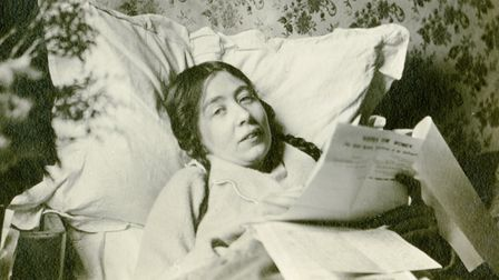 Sylvia Pankhurst recovering from a hunger strike after release from prison. Pic: Norah Smyth/Collect