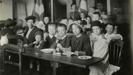 Sylvia Pankhurst's East London Federation of Suffragettes cost-price cafe for the poor. Picture: Nor