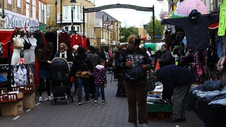 Roman Road Market, which takes place in the second unhealthiest high street in London. Picture: Isab