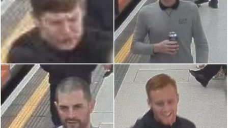 Police would like to speak to these men in connection with the assault. Pic: BTP