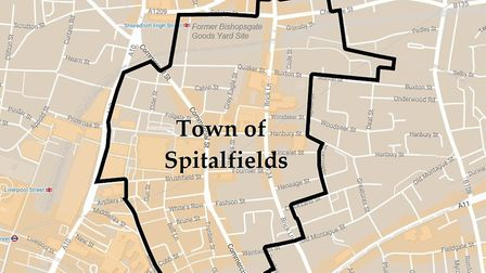 Proposed plan for Spitalfields town council... under fire fromTower Hamlets Labour party. Picture: S