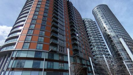 New Providence Wharf cladded towers at Blacklwall. Picture: Ballymore