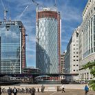 Newfoundland tower arrives at Canary Wharf, completed by 2020. Picture: CWG