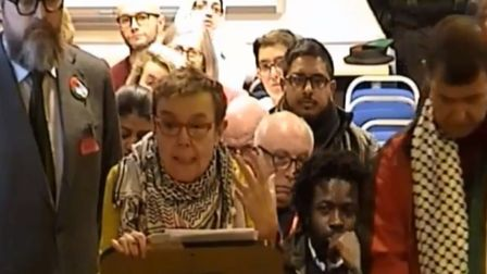 Cybil Cook presents petition which fails to alter anti-Semitism definition adopted by Tower Hamlets.