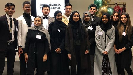 Reunited... Tower Hamlets young mayors and youth cabinet members from the past 10 years. Picture: LB