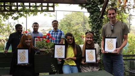 Young people after completing their beekeeping course. Picture: Fatima Uddin