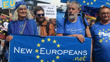 'Remain' protests against Brexit that began last year with marches through London. Picture: Mike Bro