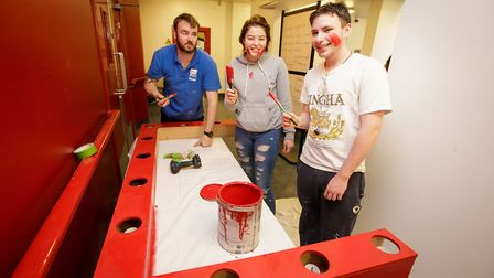 Student volunteers have revamped Brady Arts and Community Centre. Picture: VIY