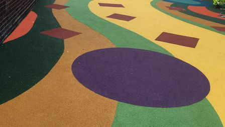 The new 'play' street outside Sir William Burrough Primary school. Picture: LBTH