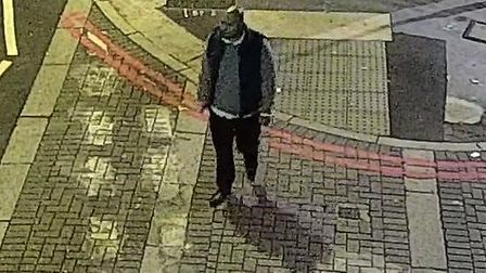 Police would like to speak to this man in connection with the rape. Pic: Met Police