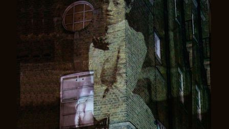 Historic figures from the past come to life on facade of the old London Hospital. Picture: QMUL