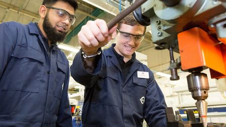 Apprentices behind the scenes of TfL keeping London's transport running. Picture: TfL
