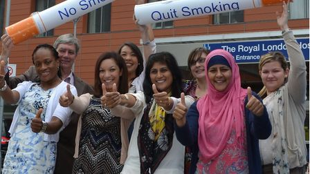 Campaign launched a year ago at the Royal London to quit smoking. Picture: Barts NHS Trust