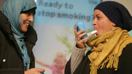 Swicth to vaping if you can't give up smoking easily, is the advice from Tower Hamlets Council. Pict