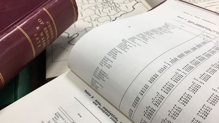 A census book. The 2021 census is the first to use digital recording by default. Picture: ONS.