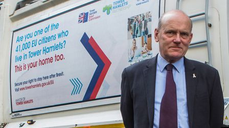 Mayor John Biggs has spend thousands of pounds on the posters. Pic: LBTH