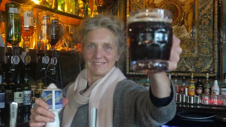 The George Tavern's Pauline Forster has claimed victory. Picture: Mike Brooke