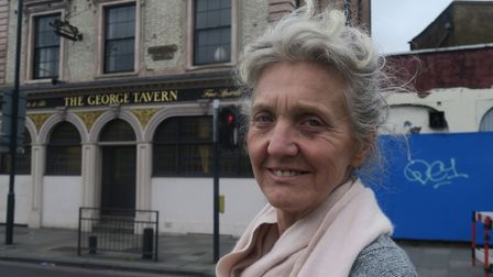 Pauline Forster outsdie her listed George Tavern in the Commercial Road. Picture: MIKE BROOKE