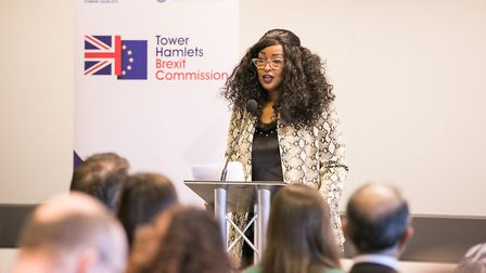 Cllr Amina Ali is the chair of theTower Hamlets Brexit Commission. Pic: Kois Miah