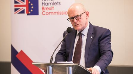John Biggs at the Tower Hamlets Brexit Commission Report Launch. Pic: Kois Miah
