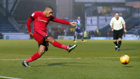 Jay Simpson in action for Leyton Orient during the 2016/17 season (pic: Simon O'Connor).