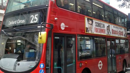 The 25 that used to run direct to Oxford Circus from east London. Picture: Save Our Buses campaign