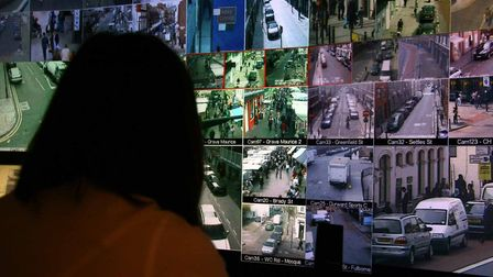 Tower Hamlets CCTV monitoring station where drug dealers are being tracked down. Picture: LBTH