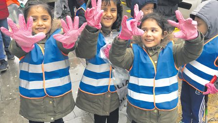 Never too young to join the East End's Big Clean Up. Picture: LBTH