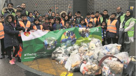 What a load of rubbish! This is what the East London scouts picked up in Whitechapel High Street. Pi