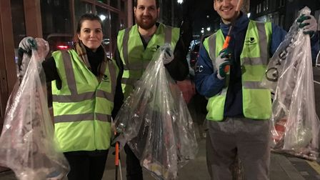 People with pride... householders join the street squads to tidy up their neighbourhood. Picture: LB
