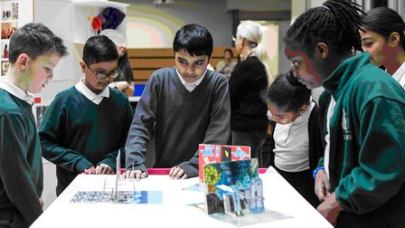 East London primary school pupils taking part in a classroom arts project. Picture: Bow Arts