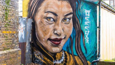 Mural in Brick Lane... council decides if it's graffiti or genuine street art. Picture: LBTH