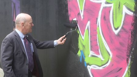 Mayor Biggs: Graffiti? Not on my watch! Picture: LBTH